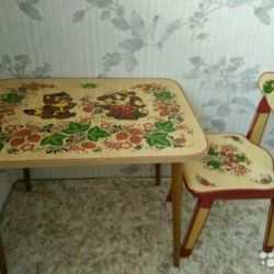 Table 60sh * 45g * 46v with a chair for children