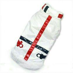 Λευκό ζεστό γιλέκο (ρούχα για σκύλους)