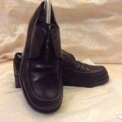 мужские кожаные туфли bata