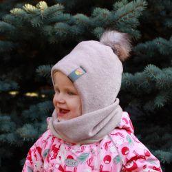 Χειμερινό καπέλο με πομπή + φλιτζάνι