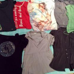 Кофты и футболки11 шт. 44-46 за все