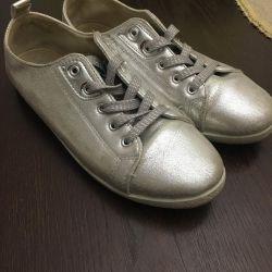 αθλητικά παπούτσια ασημένια σελ.38