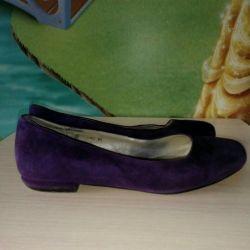 Ballet shoes natural velor