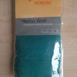 Носки из шерсти мериносов