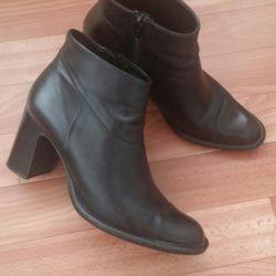 Pantofi din piele de toamnă