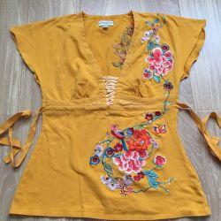 Sarı bluz Karen Millen nakış ile