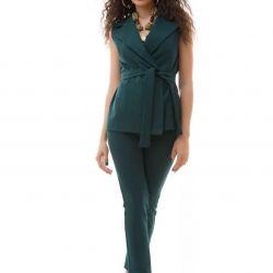 Pantaloni de culoare emerald