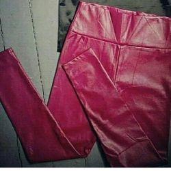 Pink Leather Leggings