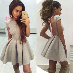 Neoprene dress with open back