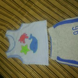 Children's summer suit and two T-shirts