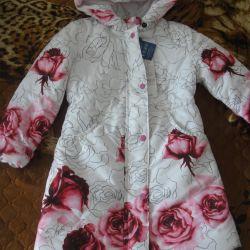 новое пальто розы 122 размер