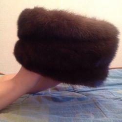 Kadın vizon şapkası.