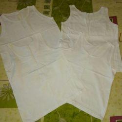 Çocuk T-shirt beyaz lekeleri olmadan 4 adet p.104-110 ... dep