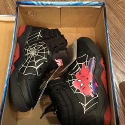 Erkek botları, Spor ayakkabı Spiderman, Blaze