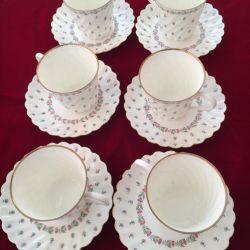 LFZ Çay Bardakları İnce Kemik Çini