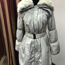 Down jacket new collar rabbit