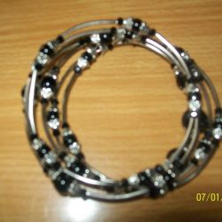 Bracelet with black agate.