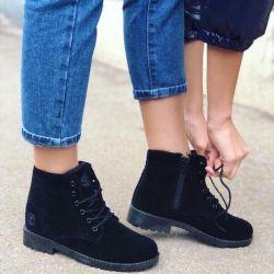 Μαύρες μπότες Timbo των γυναικών