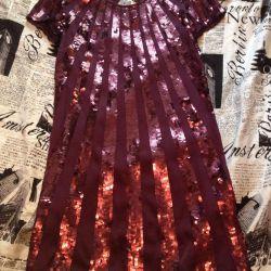 Μανγκό βραδινό φόρεμα