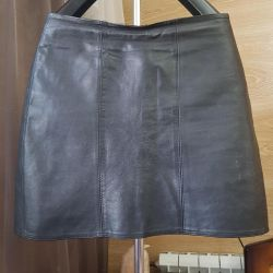Genuine leather skirt 42-44