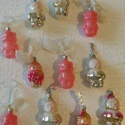Christmas tree decorations vintage