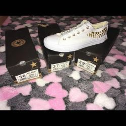 Sneakers Converse 39 White with rivets
