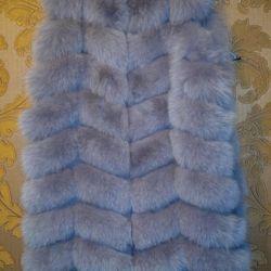 Noua vesta din blana de vulpe din Arctic, dimensiune 52-54