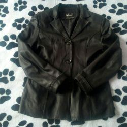 Leather jacket jacket