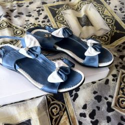 Sandals, 37r leather, not used