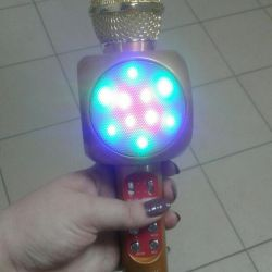 Φωτεινό καραόκε μικρόφωνο