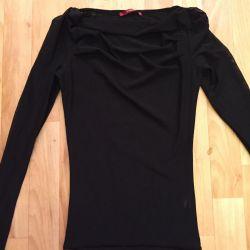 Blouse black mesh, blouse, top