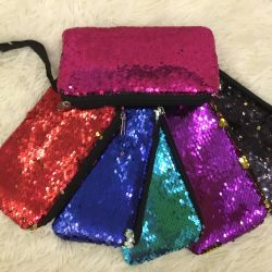 Wallets with sequins