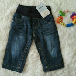 Jeans with a cotton lining