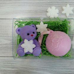 Set of soap Bear and Christmas ball