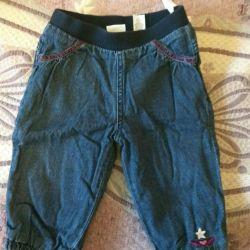 Jeans cald pe fleac
