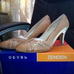 Новые кожаные туфли 39 р-р. Срочно за 1000 руб.