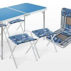 Стол раскладной с 4-мя стульями