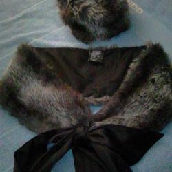 Комплект, шарф и шапка