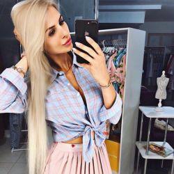 Cotton shirt and skirt