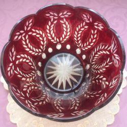 Crystal vase. the USSR