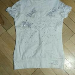 Elegant blouse with rhinestones