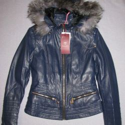 jacket leather PU leather 44-50 warmed
