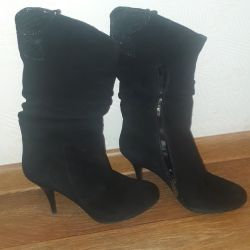 Suede boots 37.5 r.