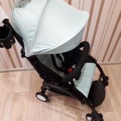 Нова коляска baby time колір м'ята