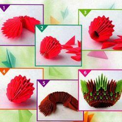 Modüler origami.