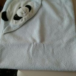 Towel with corner
