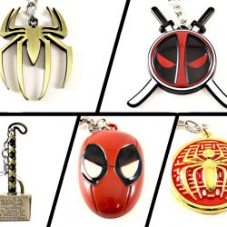Souvenirs Jewelry Marvel - Spiderman, Deadpool