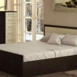 Bed with mattress 140/200.