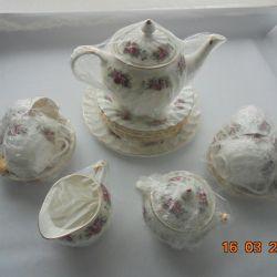 Set de ceai din porțelan de 15 subiecți
