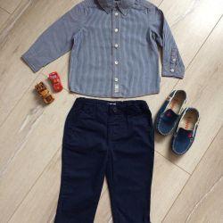 Children's clothes-shirt, pants, moccasins